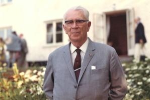Boris Hagelin after his retirement (photograph taken on his 80th birthday on 2 July 1972) -- Crypto Museum collection CM-303151
